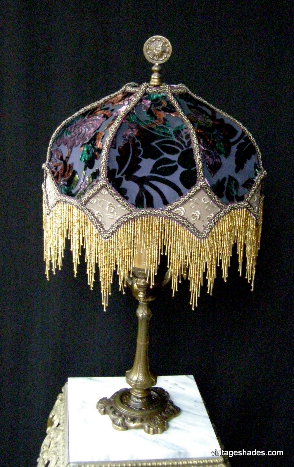 victorian lampshades vintage custom lamp shades. Black Bedroom Furniture Sets. Home Design Ideas
