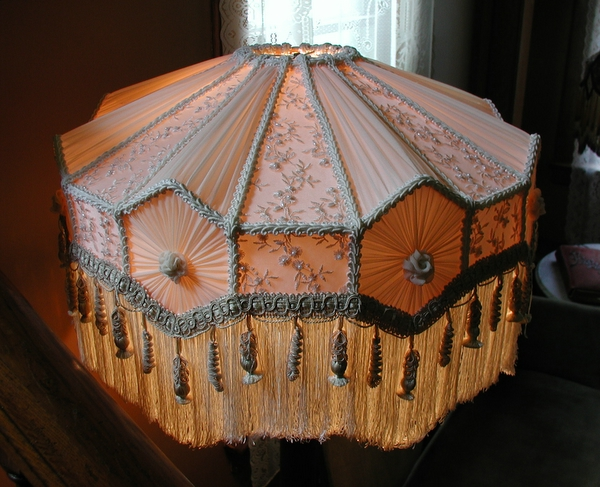 Old Fashioned Lamp Shade: Working on authentic antique lampshades has shown us much about the antique  artistry involved in making shades a century ago. We strive to duplicate  this ...,Lighting