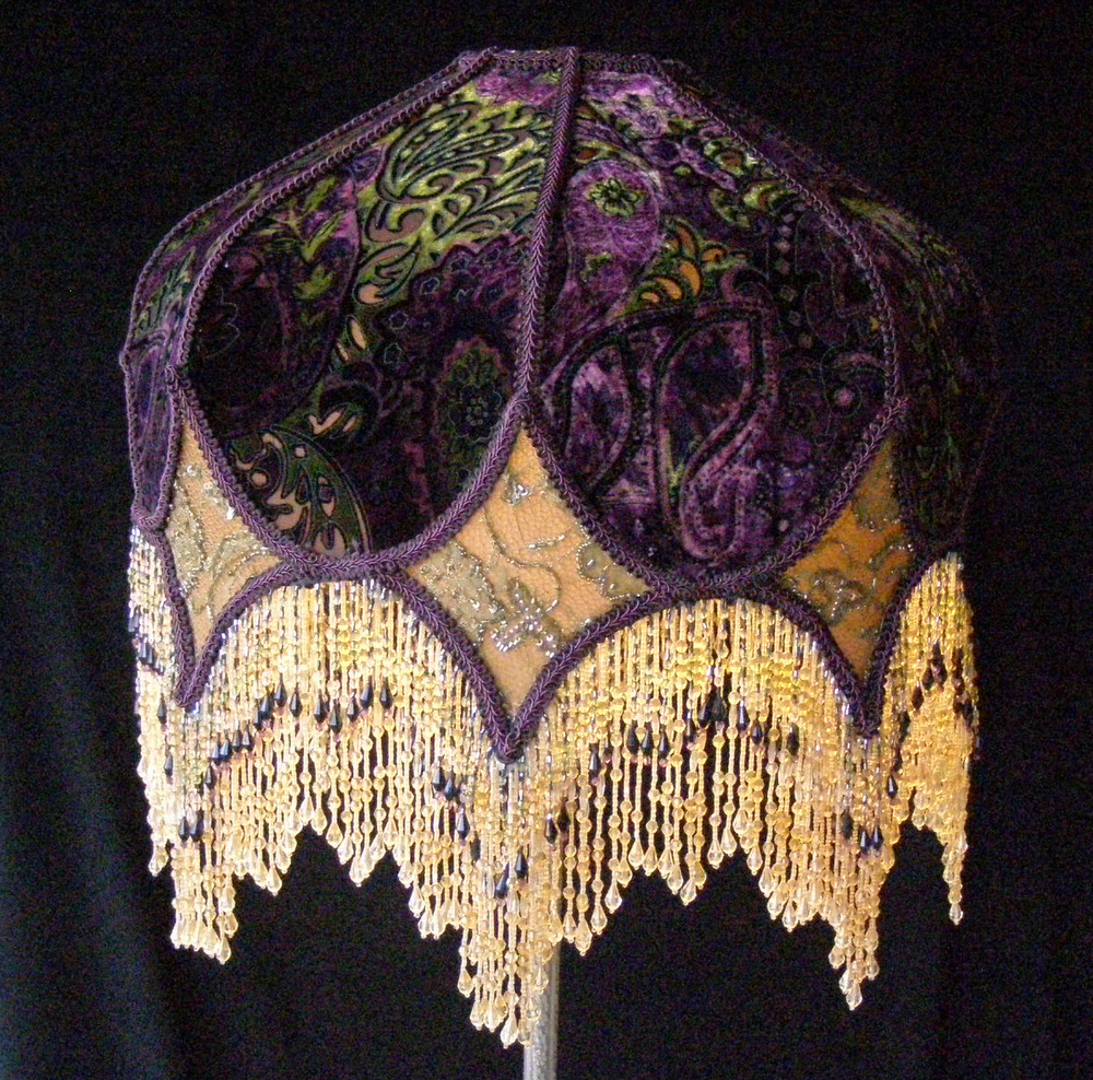 Victorian eclectic lampshade with beaded fringe mozeypictures Gallery