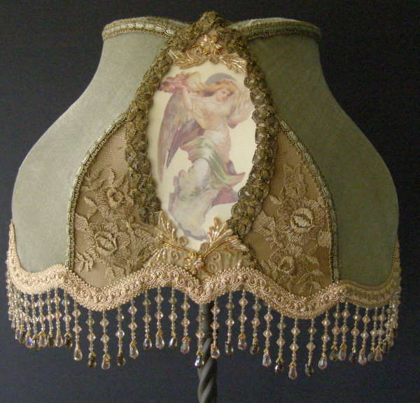 Victorian Table Lamp Shade With Angel