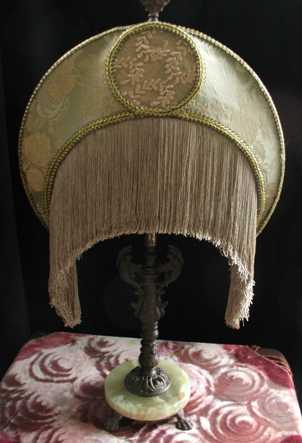 Crescent Fringed Lampshade Victorian Lamp Shade