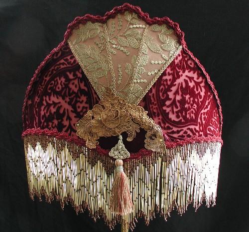 Victorian lampshades custom made fan lampshade aloadofball Images