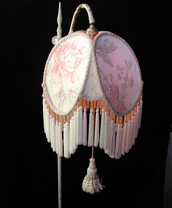SHABBY CHIC 2 large pendant cream LAMP SHADE lampshades | eBay