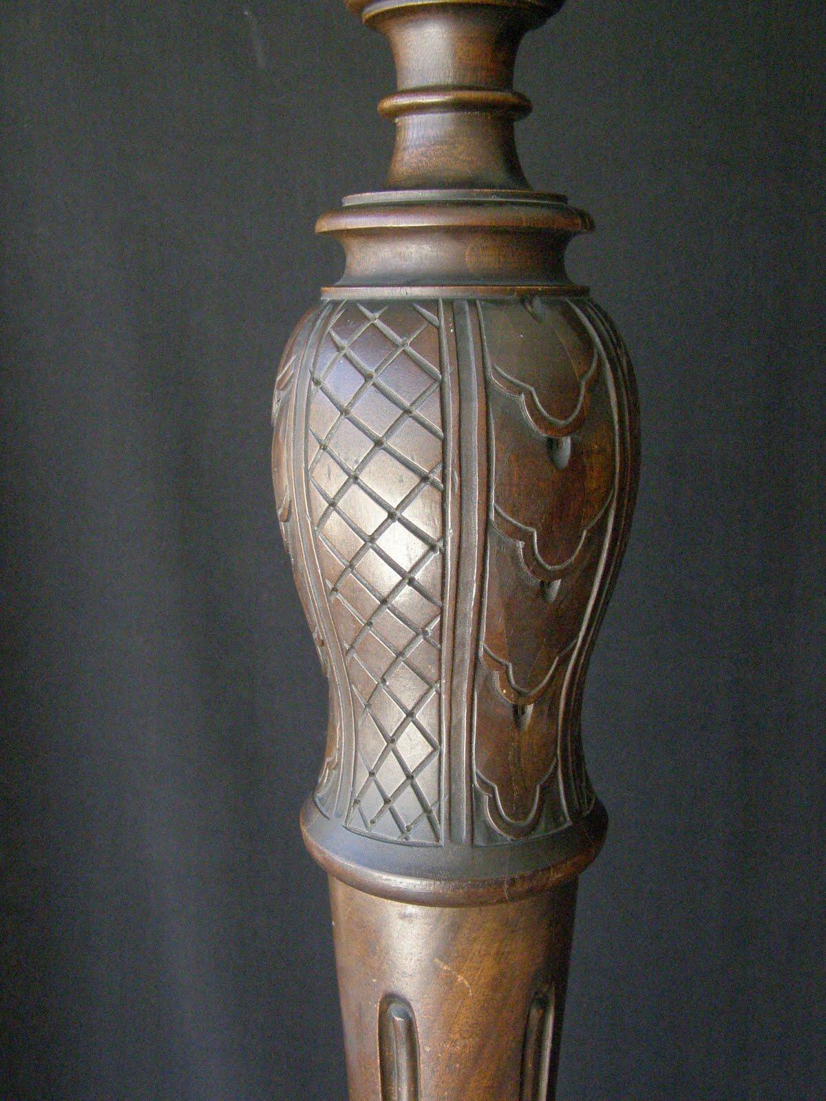 Antique Wooden Floor Lamp 2097 6