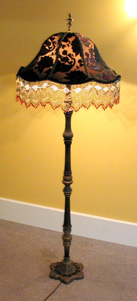 Beaded Victorian Lampshade Vintage Shades