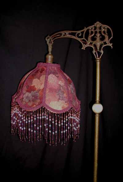 Poppy lamp shade for Purple beaded lamp shade